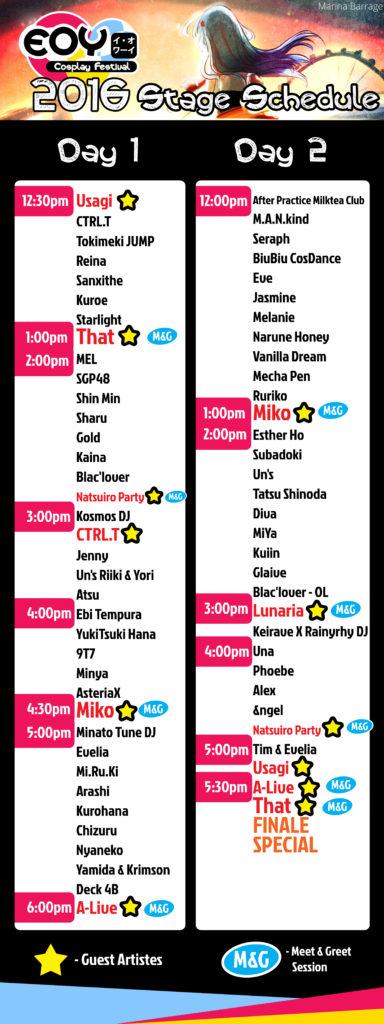 stage-schedule